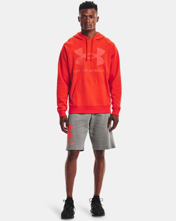 Sweat à capuche UA Rival Fleece Big Logo pour homme, Orange, pdpMainDesktop image number 2