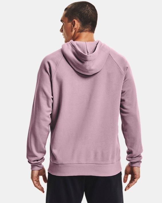 Men's UA Rival Fleece Big Logo Hoodie, Pink, pdpMainDesktop image number 1