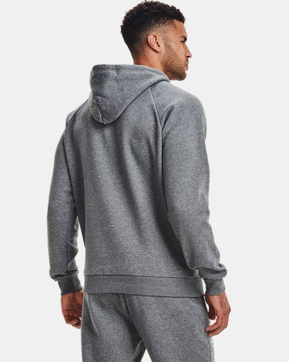Sudadera con capucha de tejido Fleece UA Rival Multilogo para hombre, Gray, pdpMainDesktop image number 3