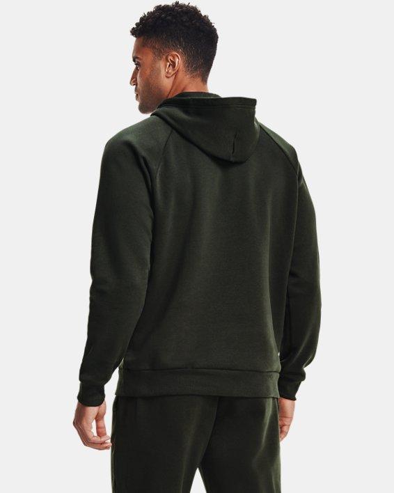 Men's UA Rival Fleece Multilogo Hoodie, Green, pdpMainDesktop image number 2