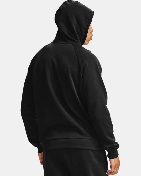 Men's UA Rival Fleece Box Logo Hoodie, Black, pdpMainDesktop image number 2