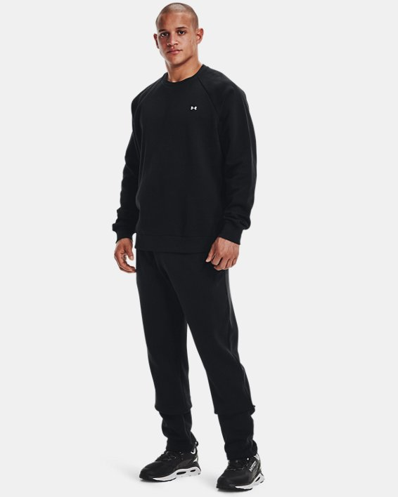 Men's UA Rival Fleece Crew, Black, pdpMainDesktop image number 0