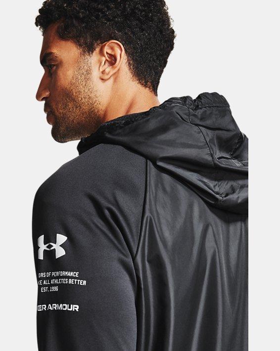 Men's Armour Fleece® Storm Full Zip Hoodie, Black, pdpMainDesktop image number 2