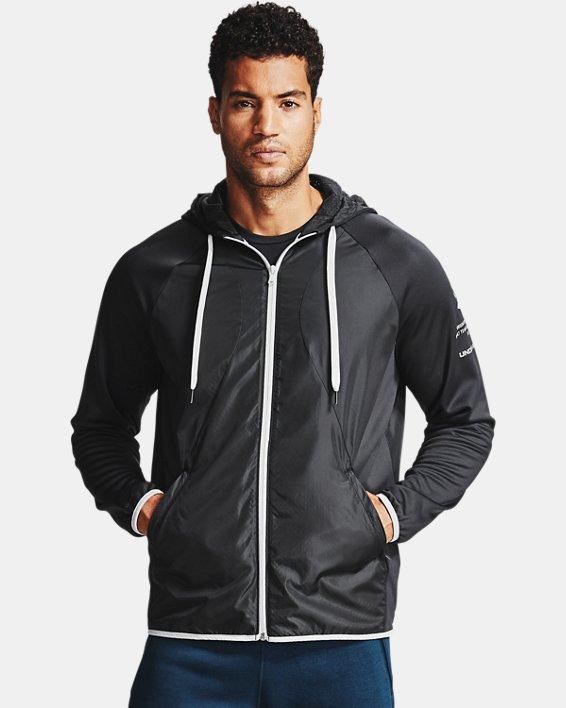 Men's Armour Fleece® Storm Full Zip Hoodie, Black, pdpMainDesktop image number 1