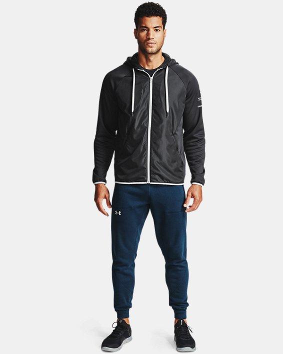Men's Armour Fleece® Storm Full Zip Hoodie, Black, pdpMainDesktop image number 0