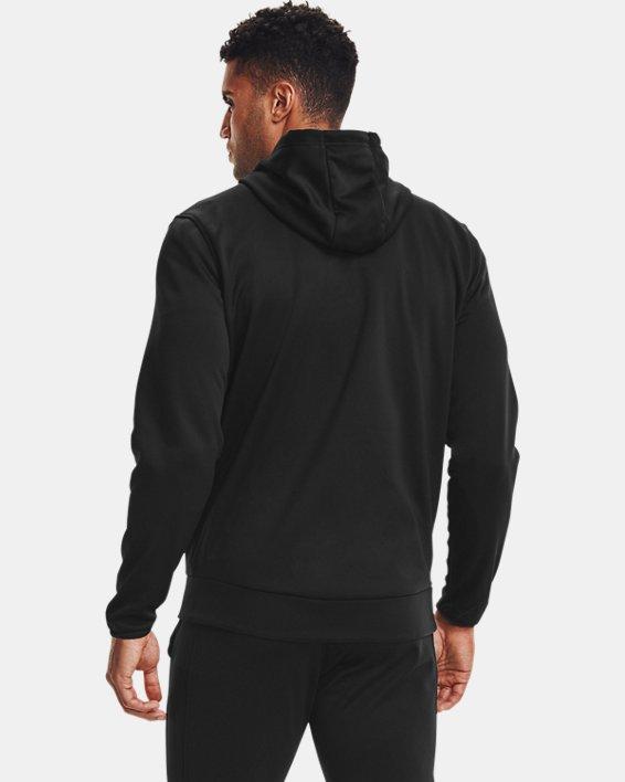 Men's Armour Fleece® Full Zip Hoodie, Black, pdpMainDesktop image number 2