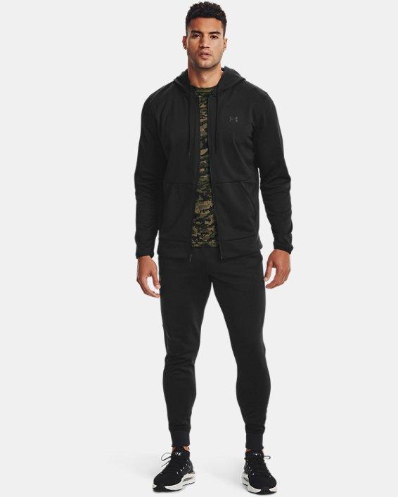 Men's Armour Fleece® Full Zip Hoodie, Black, pdpMainDesktop image number 0