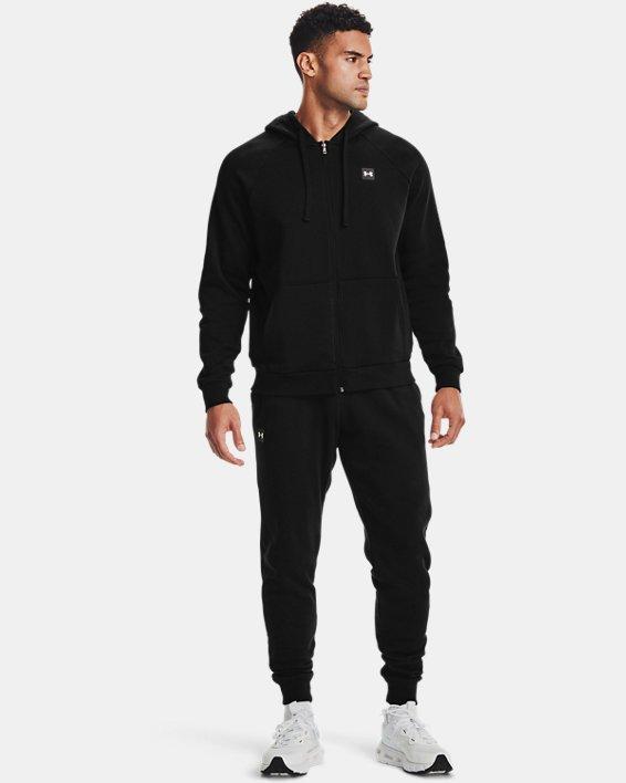 Men's UA Rival Fleece Full Zip Hoodie, Black, pdpMainDesktop image number 1