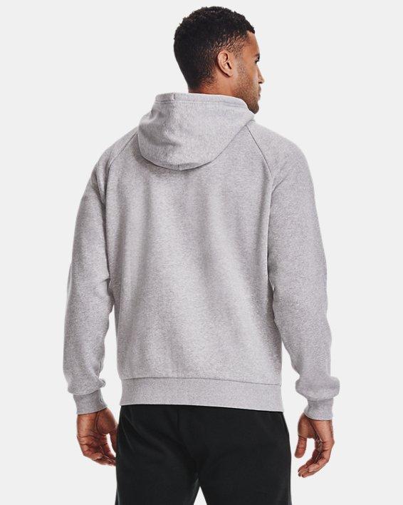 Men's UA Rival Fleece Full Zip Hoodie, Gray, pdpMainDesktop image number 2
