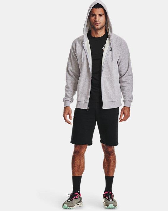 Men's UA Rival Fleece Full Zip Hoodie, Gray, pdpMainDesktop image number 0
