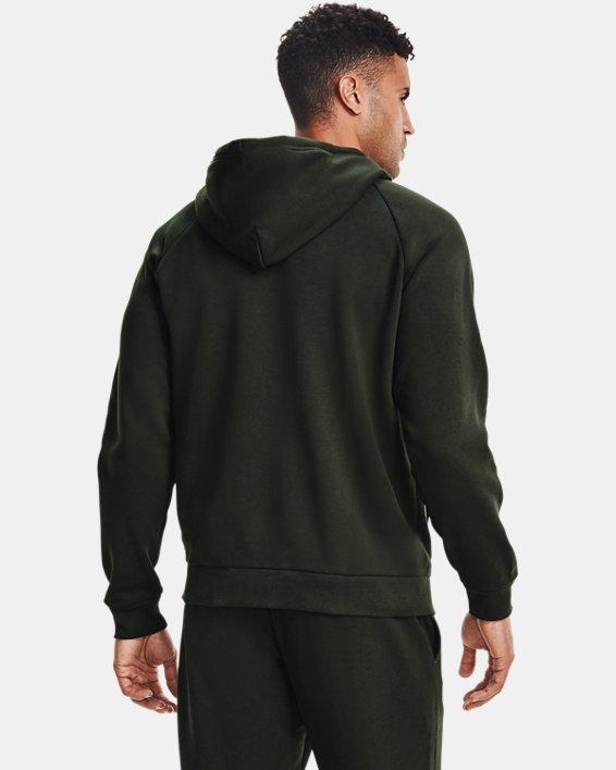 Men's UA Rival Fleece Full Zip Hoodie, Green, pdpMainDesktop image number 2
