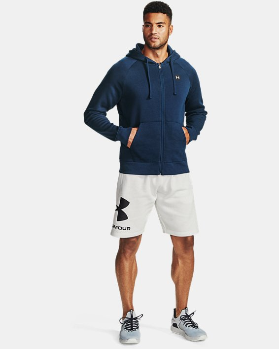 Men's UA Rival Fleece Full Zip Hoodie, Navy, pdpMainDesktop image number 0