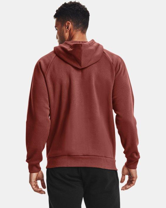 Men's UA Rival Fleece Full Zip Hoodie, Red, pdpMainDesktop image number 2