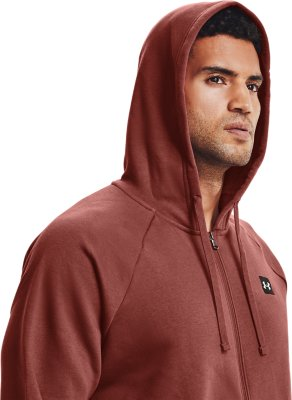Under Armour Rival Fleece Mens Full Zip Hoody Green Gym Training Workout Hoodie