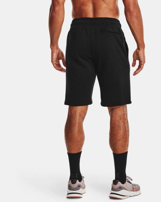 Herren UA Rival Fleece Shorts, Black, pdpMainDesktop image number 2