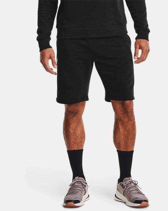 Herren UA Rival Fleece Shorts, Black, pdpMainDesktop image number 1