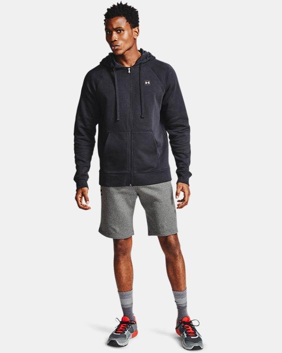 Men's UA Rival Fleece Shorts, Gray, pdpMainDesktop image number 0