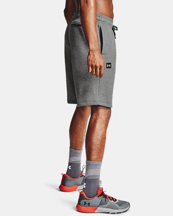 Men's UA Rival Fleece Shorts, Gray, pdpMainDesktop image number 3