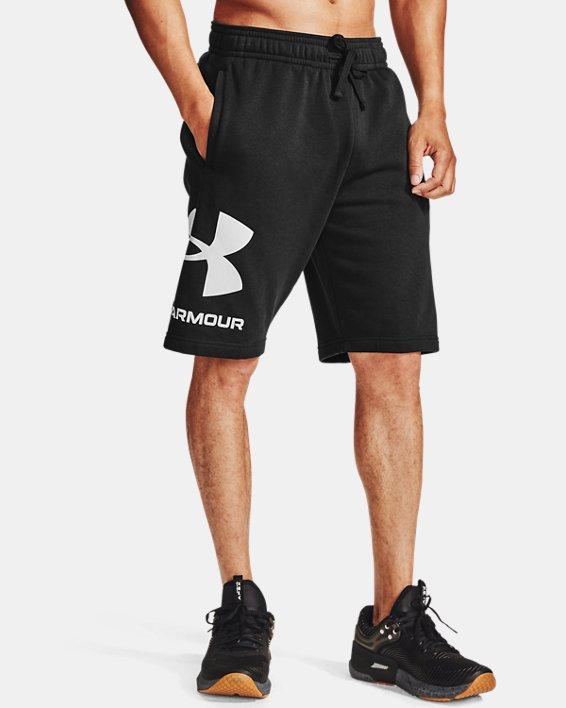 Herren UA Rival Fleece Big Logo Shorts, Black, pdpMainDesktop image number 1