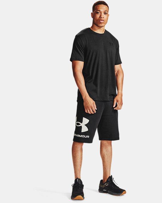 Herren UA Rival Fleece Big Logo Shorts, Black, pdpMainDesktop image number 0