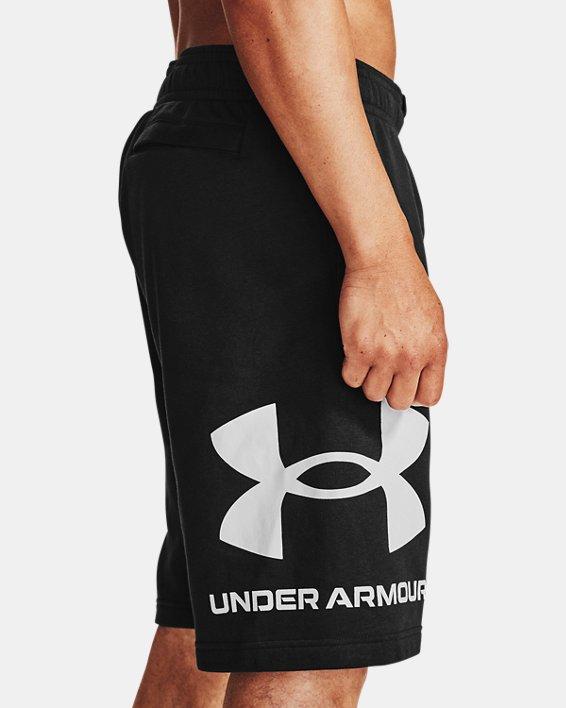 Herren UA Rival Fleece Big Logo Shorts, Black, pdpMainDesktop image number 3