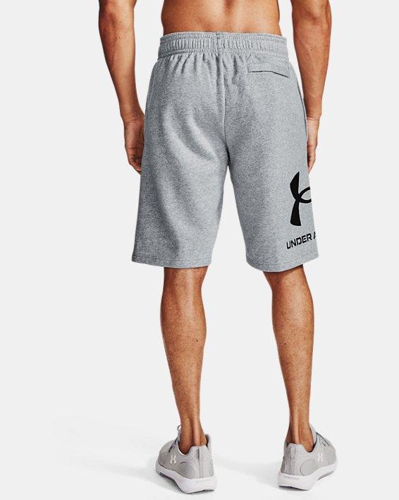 Men's UA Rival Fleece Big Logo Shorts, Gray, pdpMainDesktop image number 2