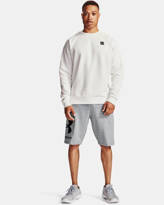 Men's UA Rival Fleece Big Logo Shorts, Gray, pdpMainDesktop image number 0