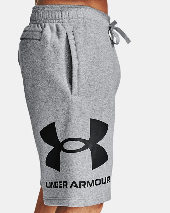 Men's UA Rival Fleece Big Logo Shorts, Gray, pdpMainDesktop image number 3