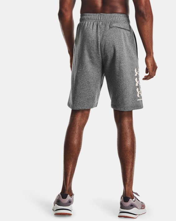 Men's UA Rival Fleece Multilogo Shorts, Gray, pdpMainDesktop image number 2
