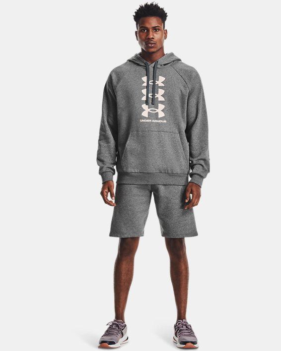Men's UA Rival Fleece Multilogo Shorts, Gray, pdpMainDesktop image number 0