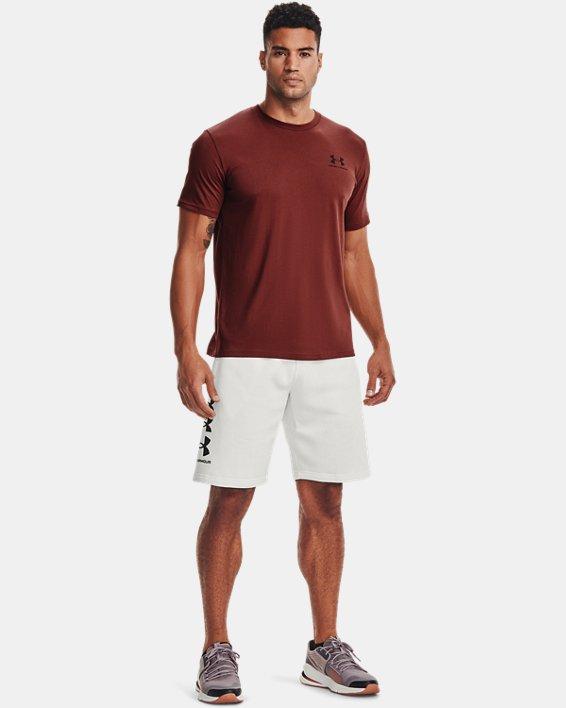 Men's UA Rival Fleece Multilogo Shorts, White, pdpMainDesktop image number 0