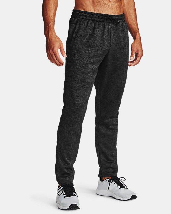 Men's Armour Fleece® Twist Pants, Black, pdpMainDesktop image number 1