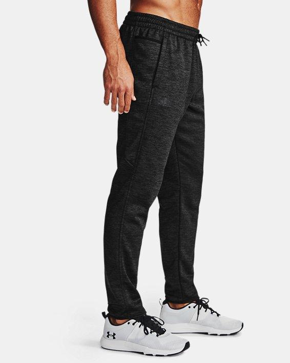 Men's Armour Fleece® Twist Pants, Black, pdpMainDesktop image number 3