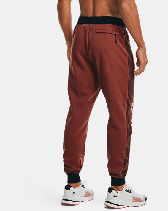 Men's UA Rival Fleece AMP Joggers, Red, pdpMainDesktop image number 2