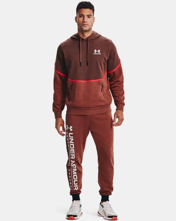 Men's UA Rival Fleece AMP Joggers, Red, pdpMainDesktop image number 0