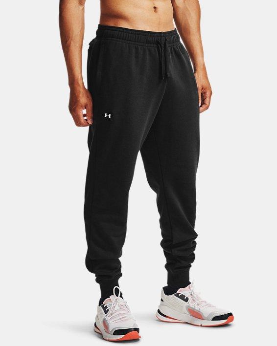 Pantalon de jogging UA Rival Fleece pour homme, Black, pdpMainDesktop image number 0