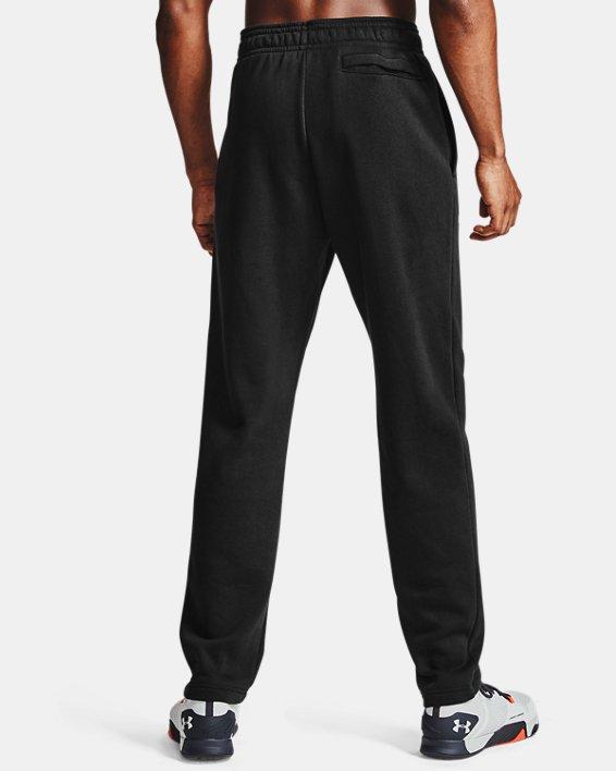 Men's UA Rival Fleece Pants, Black, pdpMainDesktop image number 2