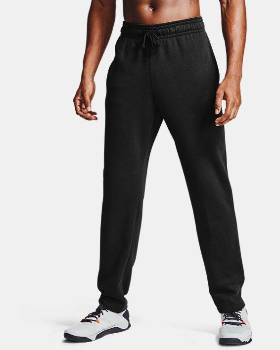 Men's UA Rival Fleece Pants, Black, pdpMainDesktop image number 1
