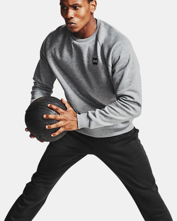 Men's UA Rival Fleece Pants, Black, pdpMainDesktop image number 6