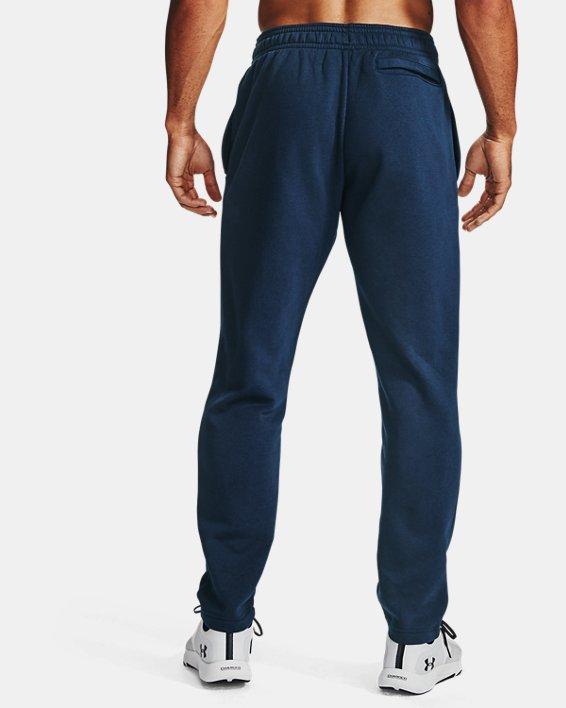Men's UA Rival Fleece Pants, Navy, pdpMainDesktop image number 2