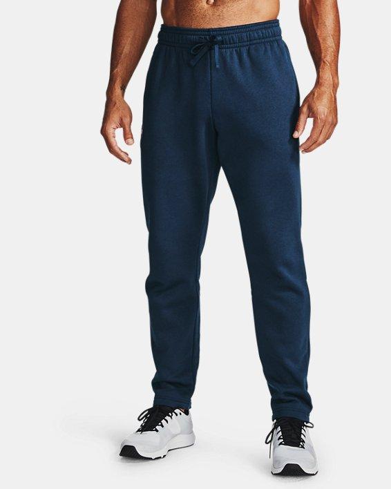 Men's UA Rival Fleece Pants, Navy, pdpMainDesktop image number 1