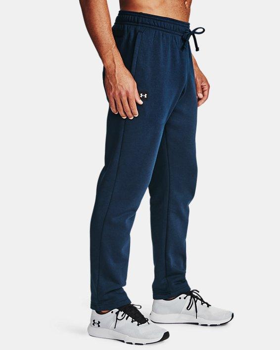 Men's UA Rival Fleece Pants, Navy, pdpMainDesktop image number 3