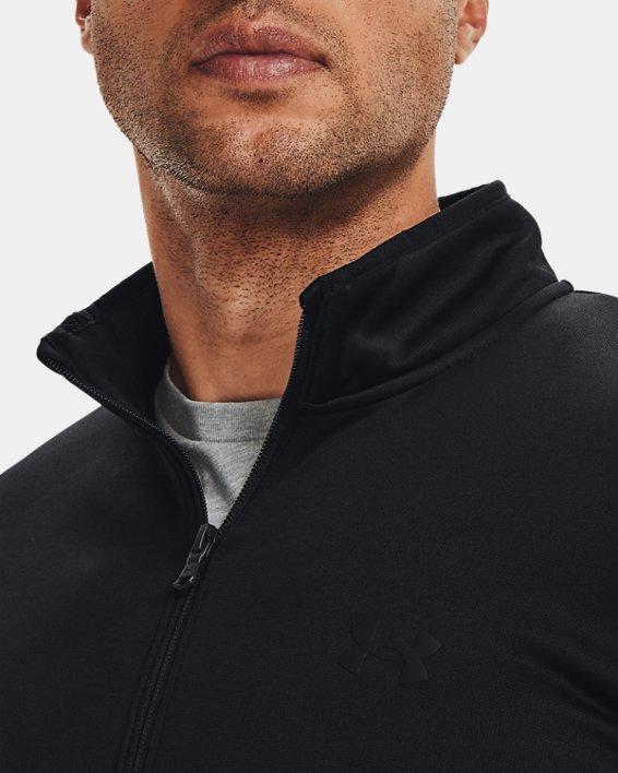 Men's Armour Fleece® ½ Zip, Black, pdpMainDesktop image number 4