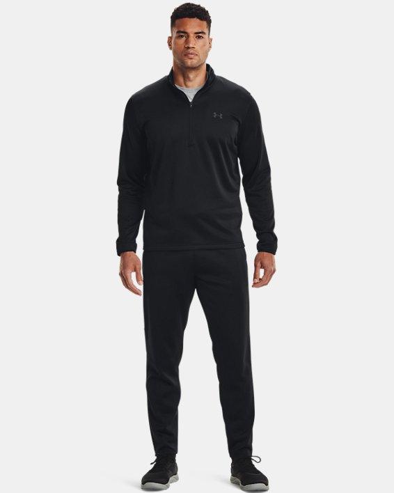 Men's Armour Fleece® ½ Zip, Black, pdpMainDesktop image number 3