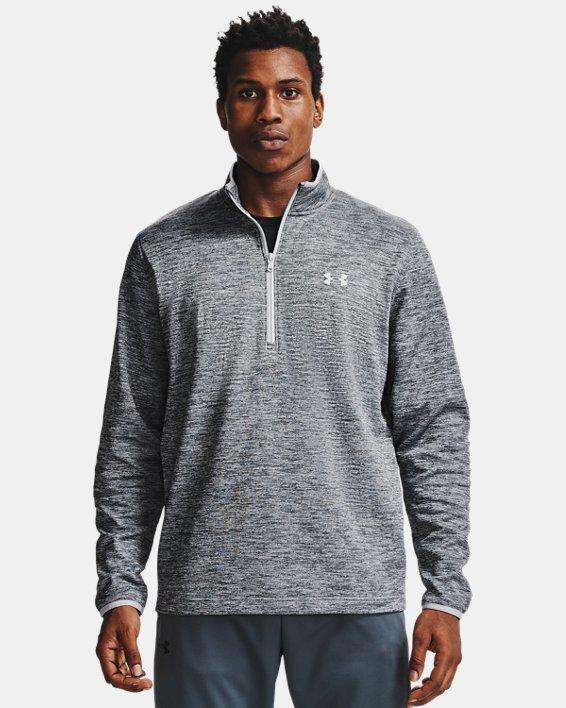 Men's Armour Fleece® ½ Zip, Gray, pdpMainDesktop image number 0