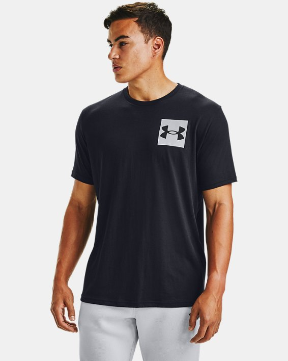 Men's UA Box Logo Short Sleeve, Black, pdpMainDesktop image number 2