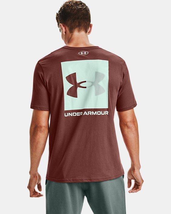 Men's UA Box Logo Short Sleeve, Red, pdpMainDesktop image number 0