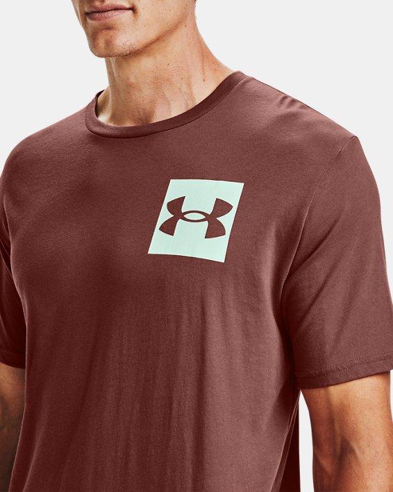 Men's UA Box Logo Short Sleeve, Red, pdpMainDesktop image number 3