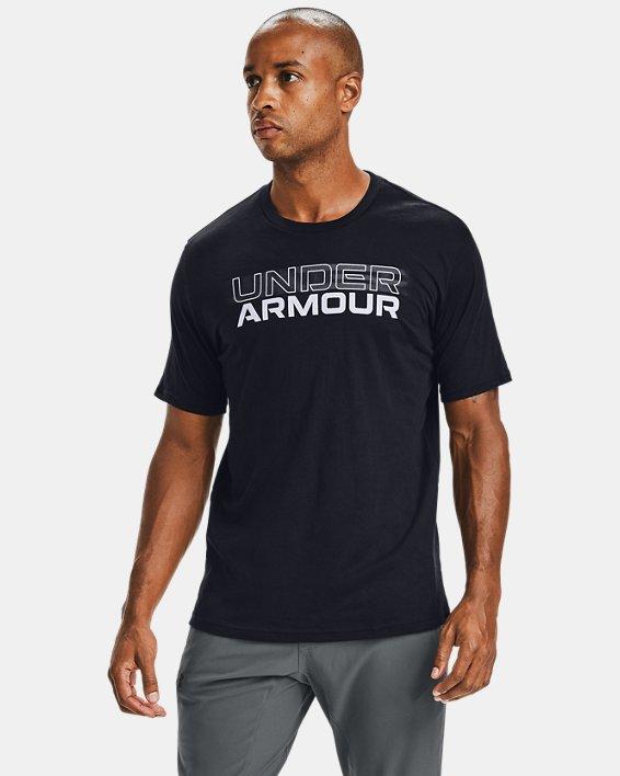 Men's UA Blurry Logo Wordmark Short Sleeve, Black, pdpMainDesktop image number 0