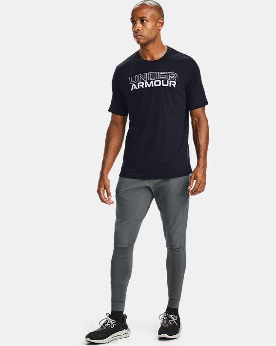 Men's UA Blurry Logo Wordmark Short Sleeve, Black, pdpMainDesktop image number 1